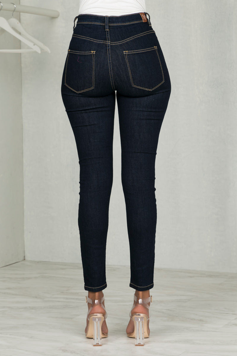 High Waist Dark Wash Denim
