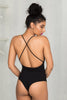 Cross It Out Bodysuit (Black)- FINAL SALE