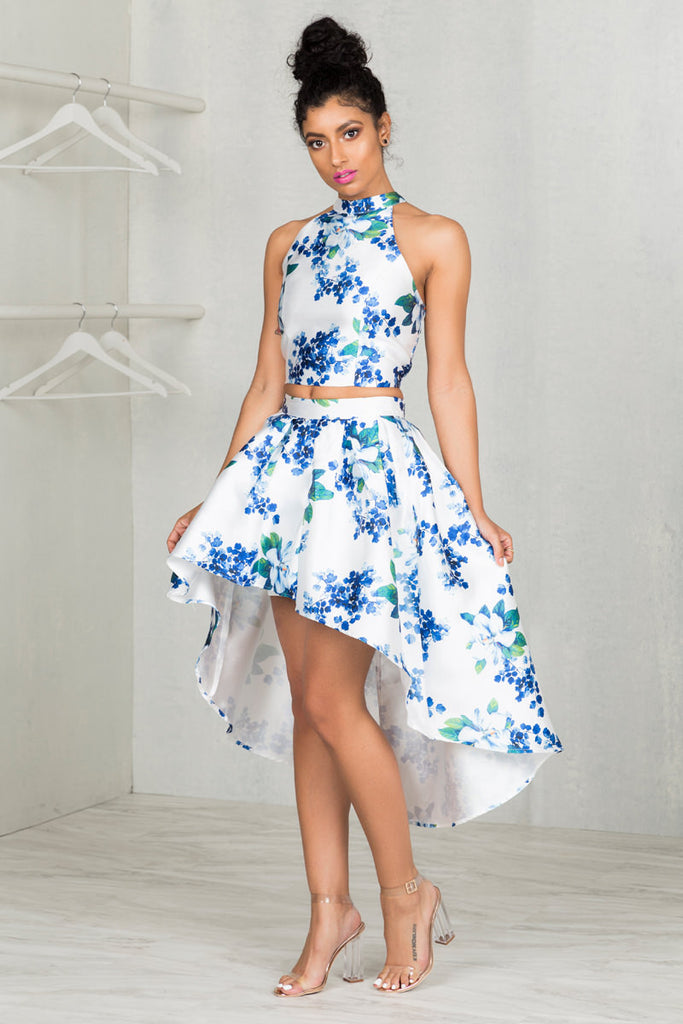Floral Hi-Low Skirt Set- FINAL SALE