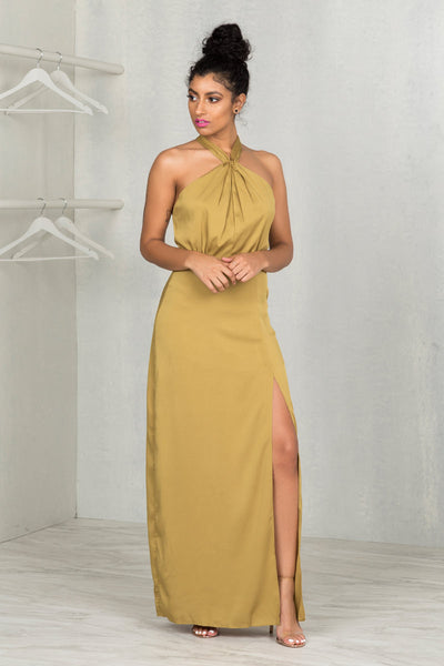 Date Night Halter Maxi Dress- FINAL SALE