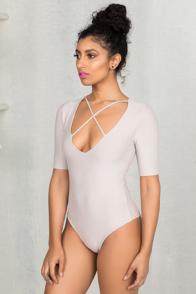 X-Marks The Spot Bodysuit- FINAL SALE