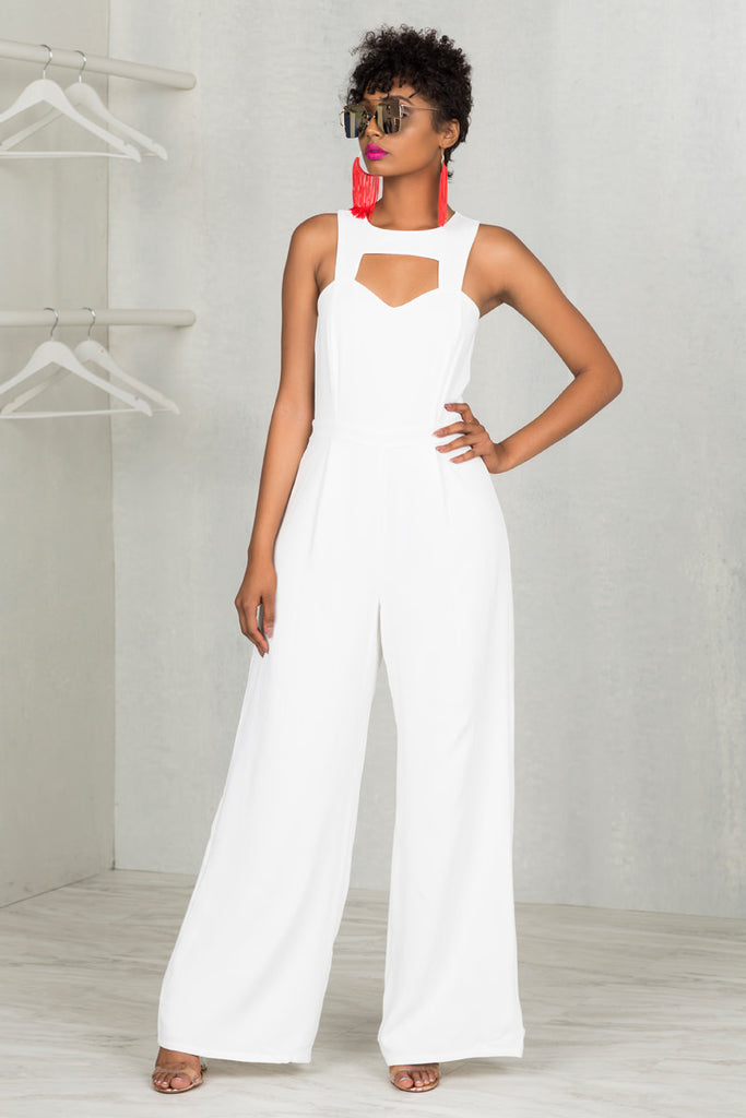 Cynthia Off White Jumpsuit- FINAL SALE