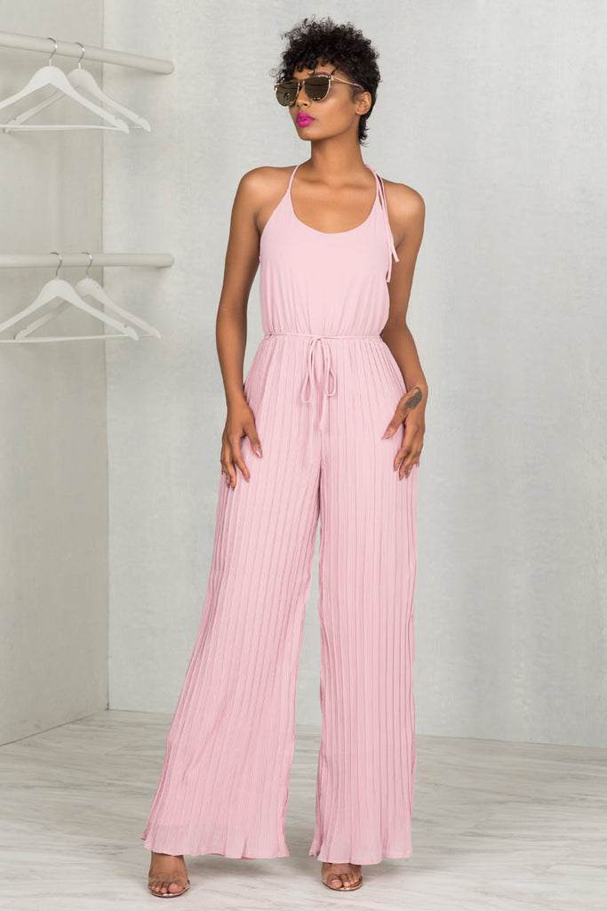 Be My Babe Jumpsuit (Pink)- FINAL SALE
