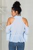 Cold Shoulder Top (Blue)