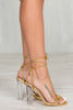 Dulce Gold Lace Up Heel