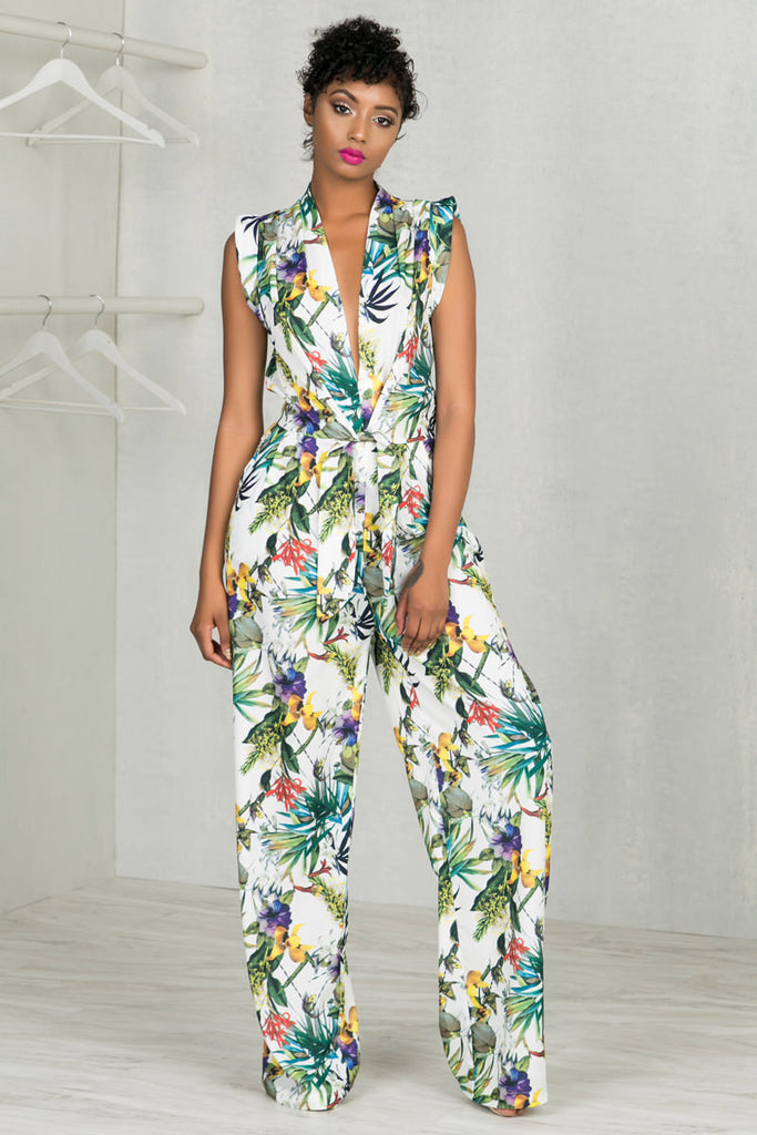 Exotic Tropics Jumpsuit- PREORDER SHIP DATE MAY 17TH