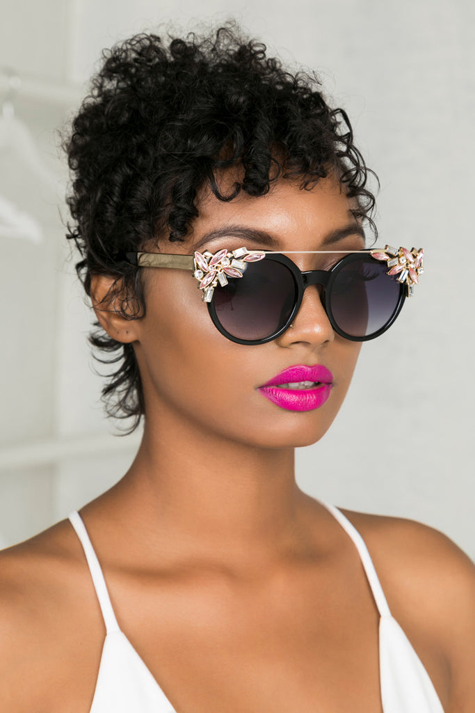 Glam Girl Sunglasses (Pink)