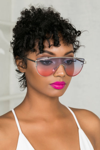 Too Fly Sunglasses (Blue/Pink)