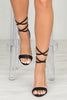 Suzzy Lace Up Heel (Black)