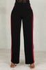 Side Stripe Pants (Black/Red)- FINAL SALE