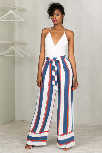 Stripe Me Wide Leg Pants