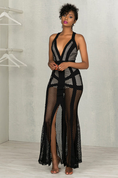 Nothing But Net Maxi Dress