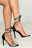 Paris Lace Up Heel (Black)- FINAL SALE