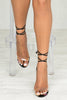 Wicked Lace Up Satin Block Heel (Multi)- FINAL SALE