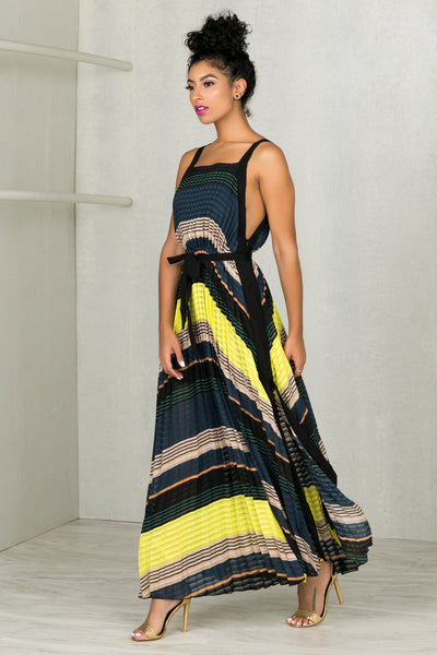 Pleated Perfection Maxi Dress