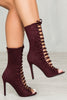 Kassy Lace Up Bootie (Wine)