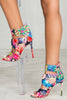 Color Splash Strappy Heels- FINAL SALE