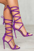 Irina Lace Up Heel (Purple)