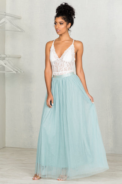 Teal Tulle Skirt- FINAL SALE