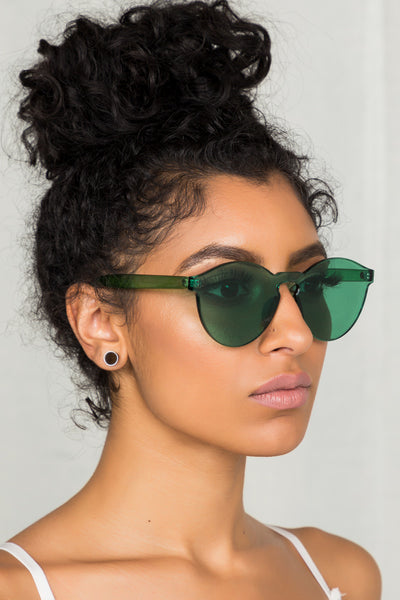Clearly Sunglasses (Green)