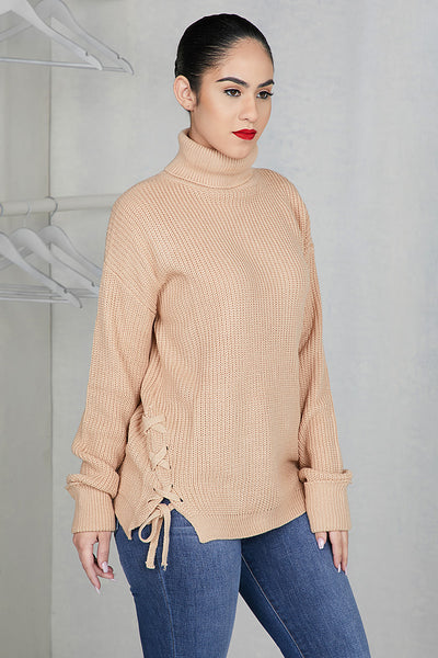 Cozy Side Lace Sweater