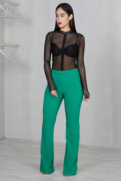High Waist Wide Leg Pants (Green)