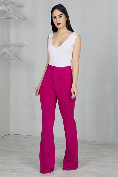 Wide Leg Pants (Fuchsia)
