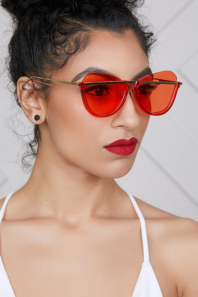 Clearly Amazing Sunglasses (Red)