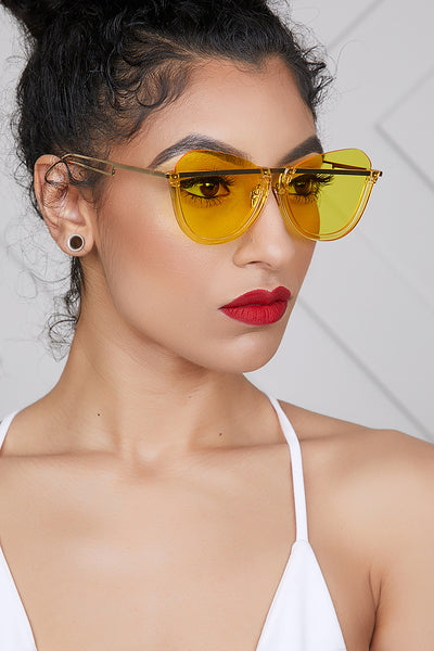 Clearly Amazing Sunglasses (Yellow)