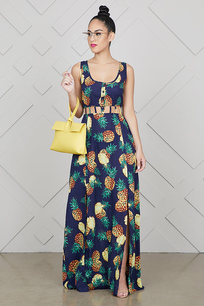 Pineapple Cut Out Dress- FINAL SALE