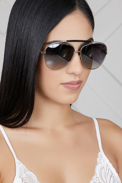 Raise The Bar Sunglasses (Sliver/Black)- FINAL SALE