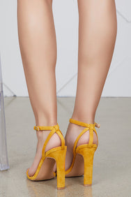 Rozala Single Sole Heel (Mustard)- FINAL SALE