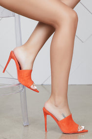 Cece Pointed Toe Mule (Orange)- FINAL SALE