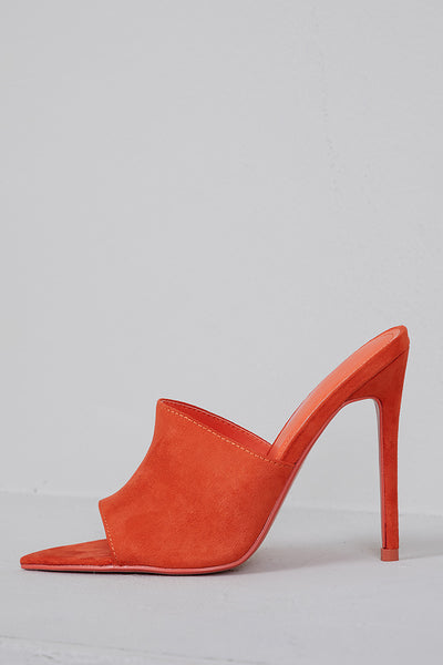 Cece Pointed Toe Mule (Orange)