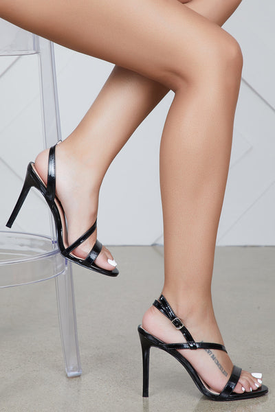 Blakeley Strap Up Heel (Black)- FINAL SALE