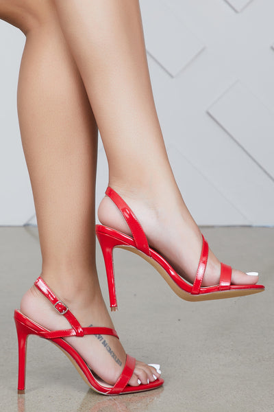 Blakeley Strap Up Heel (Red)- FINAL SALE