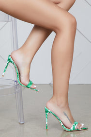 Dream On Pointed Toe Mule (Green Leaf)- FINAL SALE