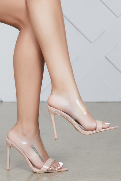 Dream On Pointed Toe Mule (Nude)