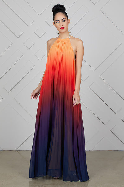 Ombre Maxi Dress (Orange)