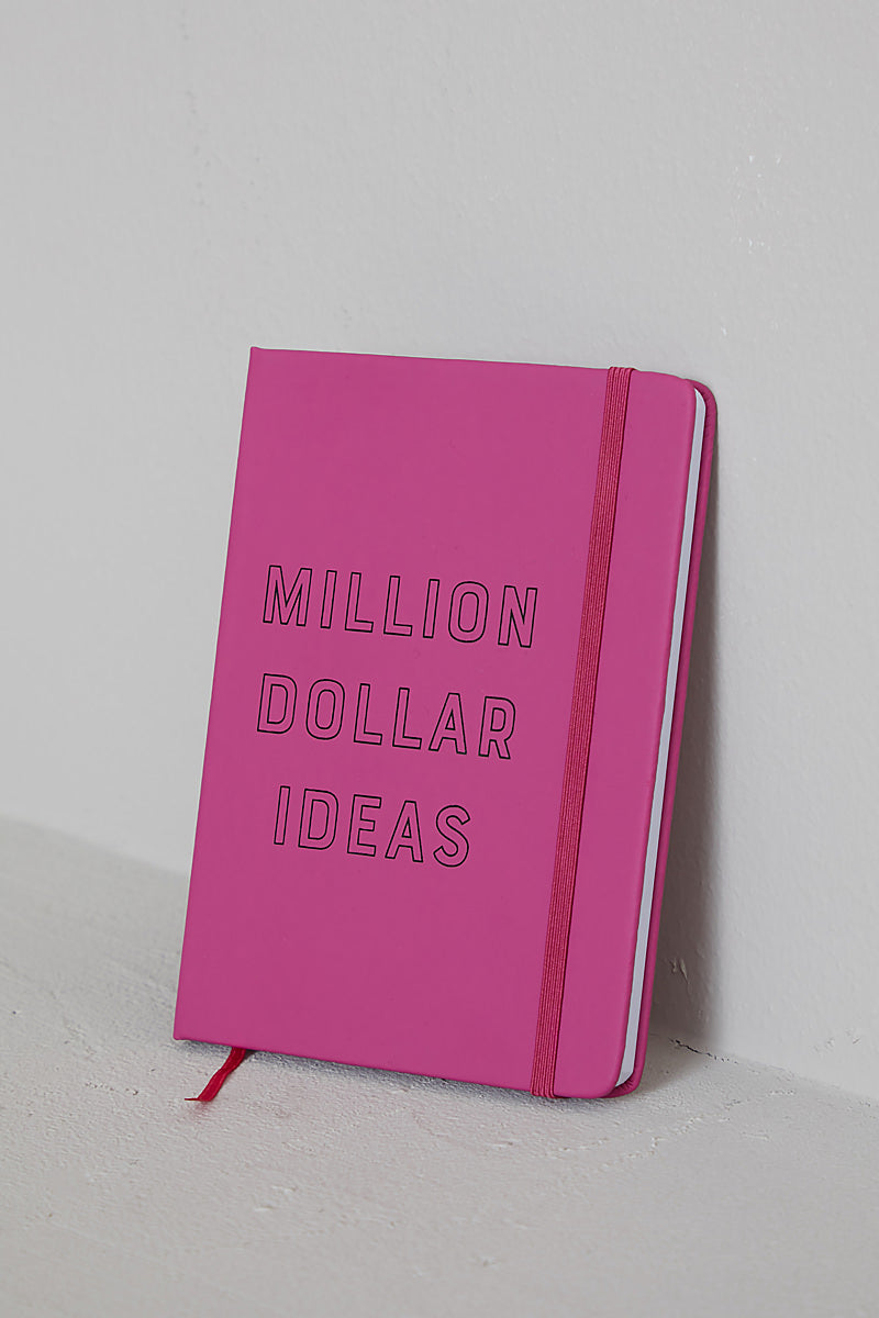 Million Dollar Ideas Notebook (Fuschia)- FINAL SALE