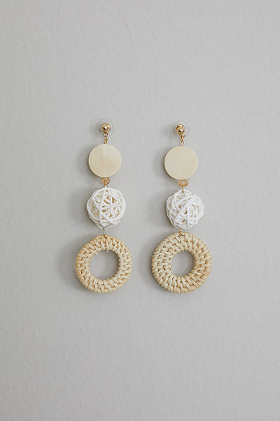 Times Three Wicker Earring