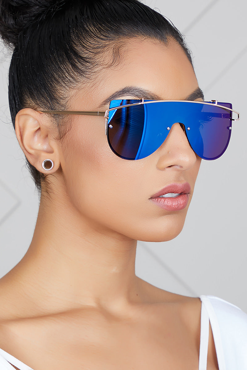 Too Fly Sunglasses (Blue/Silver)