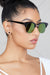 Clubmaster Mirrored Sunglasses (Multi Green)