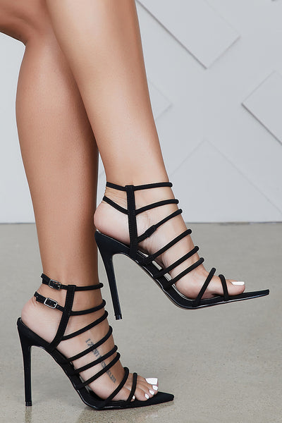 Endless Strappy Heel (Black)- FINAL SALE
