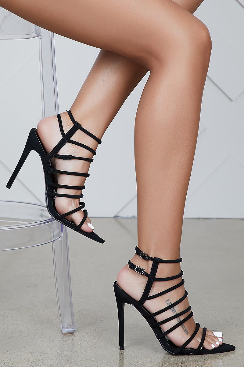 Endless Strappy Heel (Black)