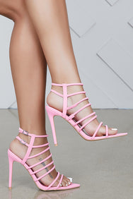 Endless Strappy Heel (Pink)- FINAL SALE