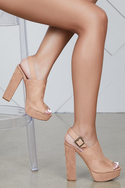 Purity Platform Heel (Tan)