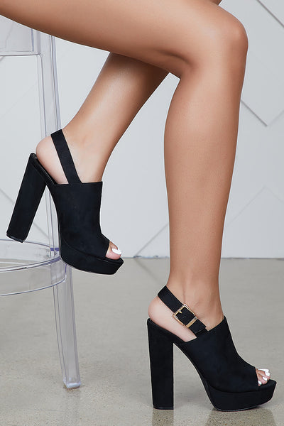 Purity Platform Heel (Black)