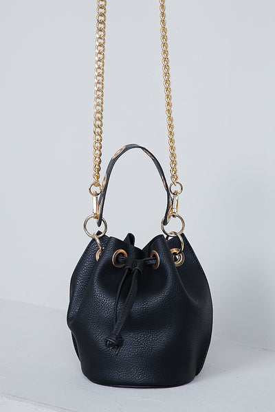 Seraphina Bucket Bag (Black)