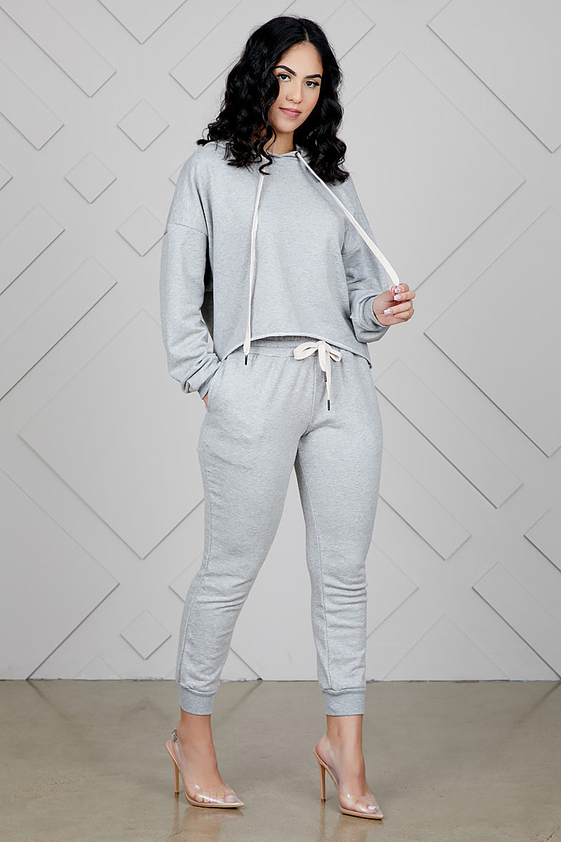 Heather Grey Sweat Suit